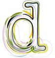 Organic Font letter d vector image vector image