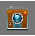 camera icon isolated on grey background vector image