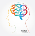 infographics brain design diagram point style vector image vector image