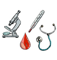 different medical objects vector image vector image
