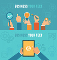 business concepts in flat style vector image