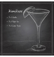 Kamikaze alcohol cocktail on black board vector image