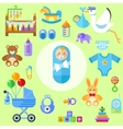 waiting for a baby All the newborn boy stuff vector image