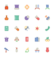 Science Colored Icons 5 vector image