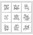 9 handwritten lettering positive quote set on vector image