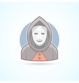 Anonym stranger maskman mysterious man icon vector image