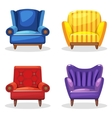 armchair soft colorful homemade set 5 vector image