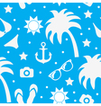 Beach seamless texture summer background season vector image