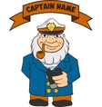 Captain Seas Template vector image