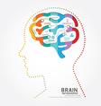 Infographics brain design diagram point style vector image