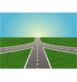 intersection on highway vector image