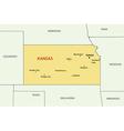 Kansas - map vector image