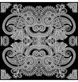 Ornamental Floral Paisley Bandana vector image
