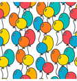 Seamless holiday background with balloons vector image