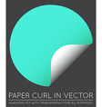 Sticker with Paper Curl with Shadow Isolated vector image