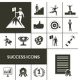 Success Icons Black Set vector image