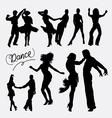 Tango salsa couple dancer silhouette vector image