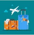 Travel concept in flat style vector image