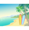 Tropic Beach Summer Landscape Seashore wave hot vector image
