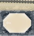 Vintage frame on blot background vector image vector image