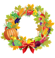 Harvest wreath vector image