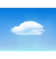 Cloud on blue sky vector image vector image