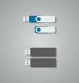 flash memory vector image vector image