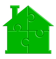 house from puzzle vector image