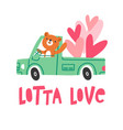 a lot of love vector image