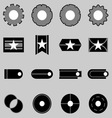 Create web icons on gray background vector image
