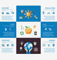 digital blue ecology icons vector image