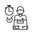express deliverycourier serviceorder box vector image
