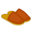 home slippers icon in cartoon style vector image
