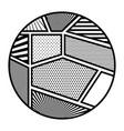 Pop art frames inside circle design vector image