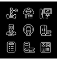 Set line icons of magnetic resonance imaging vector image