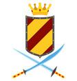 Flat heraldic premium quality emblems set with vector image