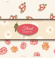seamless floral pattern set romantic vector image