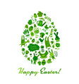 easter egg icons collection for your design vector image