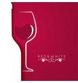 wine glass logo menu design background vector image vector image