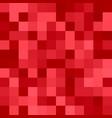 geometric square pixel mosaic background - design vector image vector image