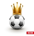 Soccer ball with royal crown of queen vector image