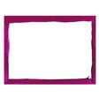 Violet grunge frame vector image
