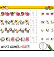 education game with farm animals vector image