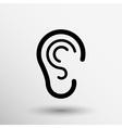 ear icon listen hear deaf human sign vector image