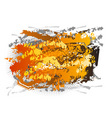abstract center background in orange color vector image