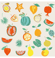 food vintage wallpaper vector image vector image