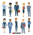 Team Of Business People vector image vector image