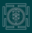 monochrome outline tree of life yantra vector image