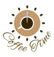 Coffee time logo design vector image