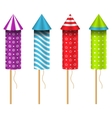 Celebration Rockets Isolated on White Background vector image